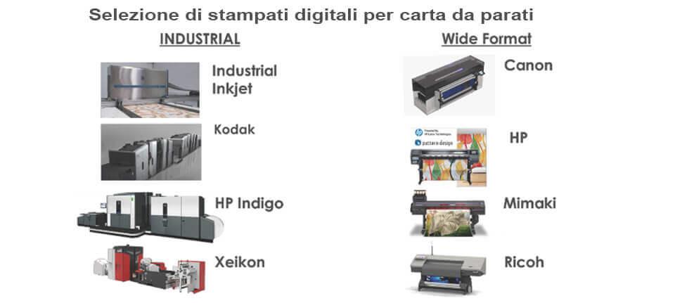 Selezione di stampanti digitali per carta da parati