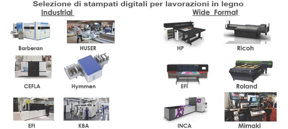 Selezione di stampanti digitali per lavorazioni in legno