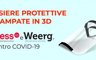 Weerg e PressUP uniscono le forze per realizzare visiere protettive stampate in 3D