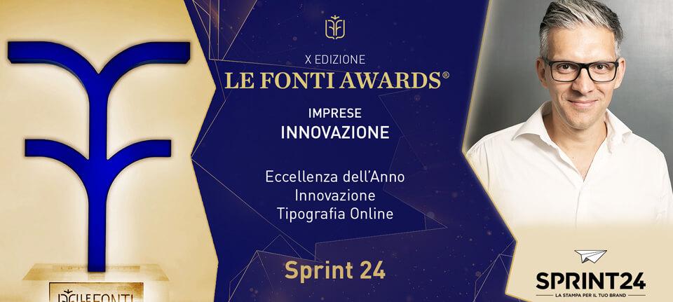 Sprint 24 premiata ai Le Fonti Awards® 2020